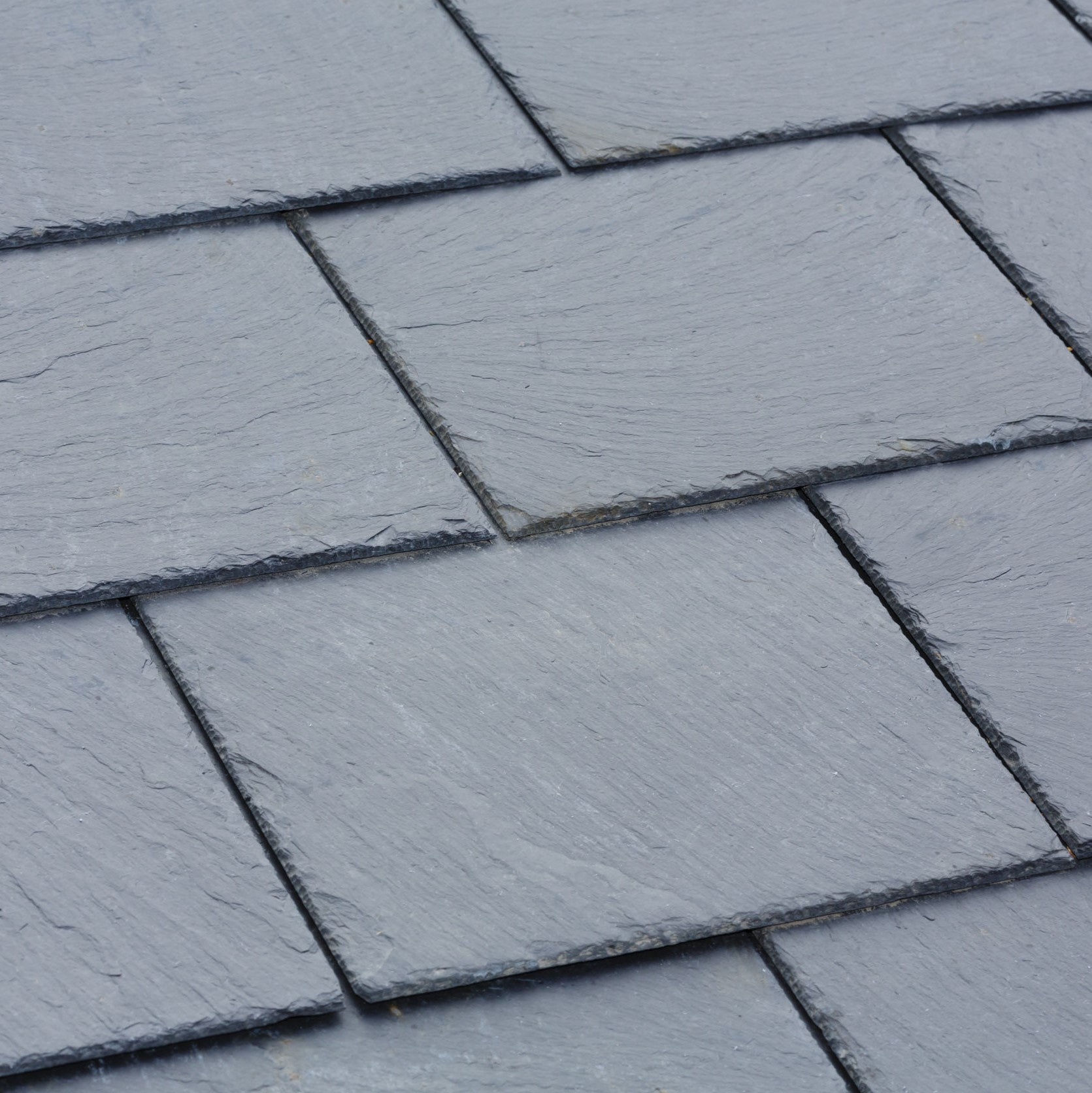 A slate roof up close.